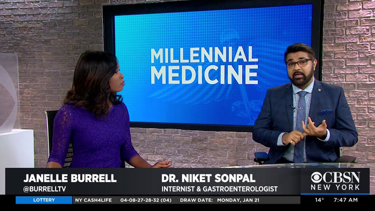 Niket Sonpal MD on CBS News